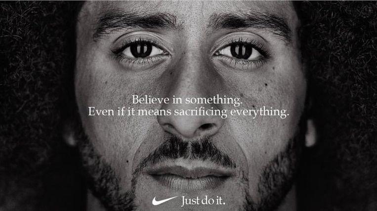De Nike-campagne met Colin Kaepernick. Beeld Nike
