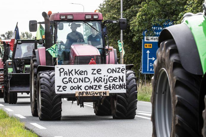 De boeren zijn klaar voor de actie in Arnhem.