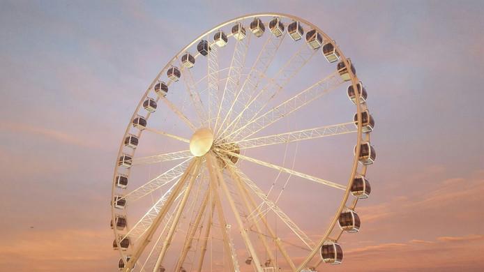Het 50 meter hoge reuzenrad zal naast de Markthal komen te staan.