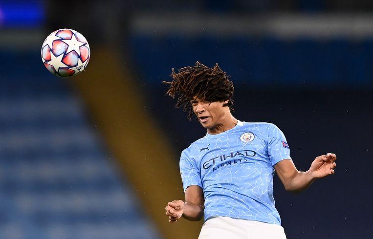 Nathan Aké in het shirt van Manchester City. Beeld Getty Images
