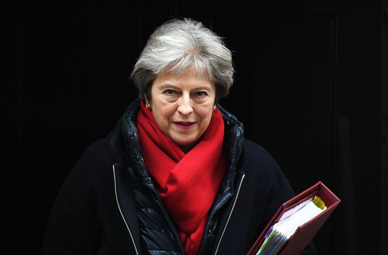 lDe Britse premier Theresa May. Beeld EPA