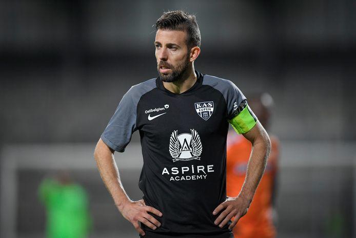 Luis Garcia, in het shirt van Eupen.