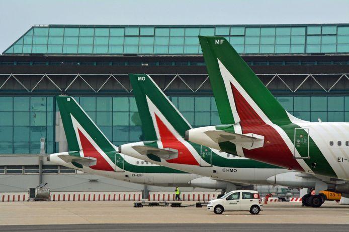 Vliegtuigen van Alitalia.