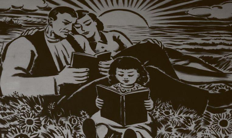Frans Masereel, 'La famille en lecture' (1937). Beeld RV Frans Masereel
