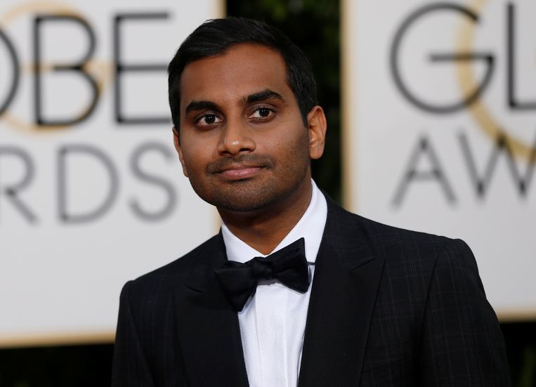 Aziz Ansari op de Golden Globes. Beeld REUTERS