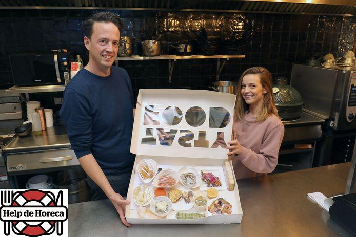 Piet-Hein Van Spaendonck en Steffi Van de Sande in de zaak Flor in Beerse.