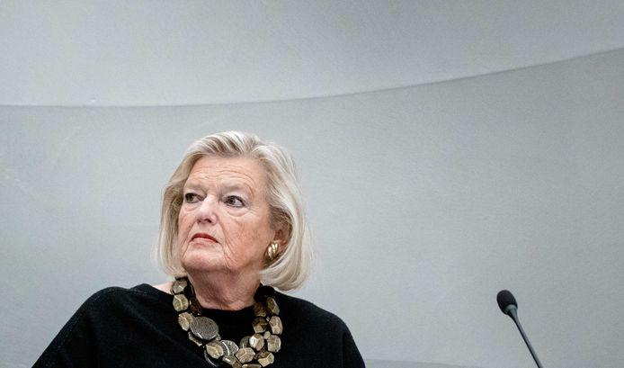 Demissionair staatssecretaris Ankie Broekers-Knol van Justitie en Veiligheid.