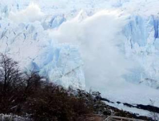 Argentijnse gletsjer breekt al af in de winter