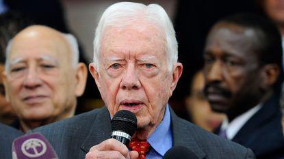 Amerikaanse ex-president Carter wil zelf naar Noord-Korea om te bemiddelen