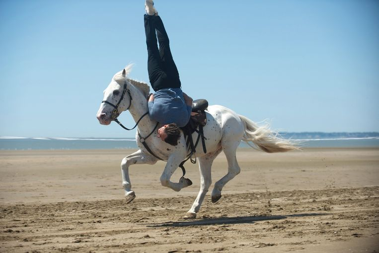 De film is gebaseerd op de biografie van een paardenstuntman. Beeld rv