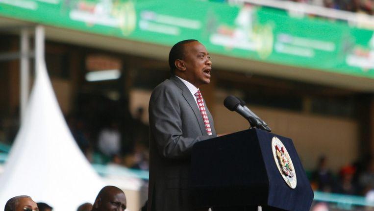 Uhuru Kenyatta in Nairobi. Beeld afp