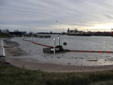 Plasticvanger vist Wilhelminahaven in Schiedam schoon