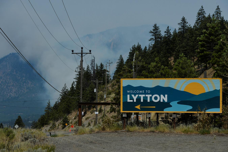Le village canadien de Lytton, à quelque 250 km au nord-est de Vancouver, désormais célèbre pour avoir enregistré cette semaine un record national de chaleur à 49,6° Celsius.