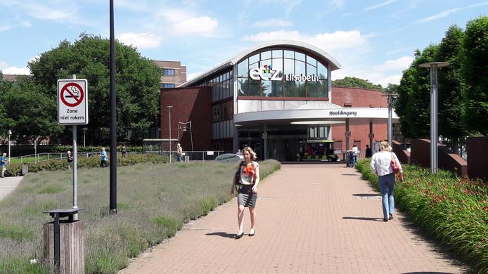 De hoofdingang van het ETZ Elisabeth in Tilburg.