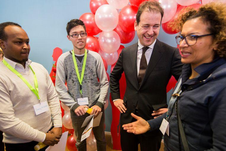 Minister Asscher opent deze week de WerkWeek Aanpak Jeugdwerkloosheid in Utrecht. Beeld Hollandse Hoogte