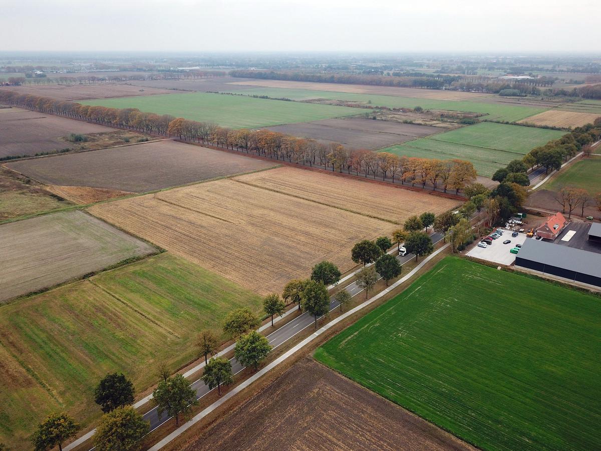 De locatie in Deurne waar het glastuinbouwterrein gepland was