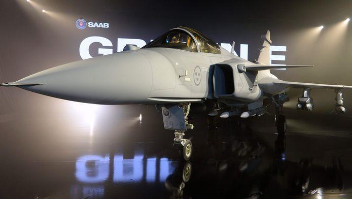 Het nieuwe Zweedse gevechtsvliegtuig van de groep Saab, de JAS 39 Gripen E.