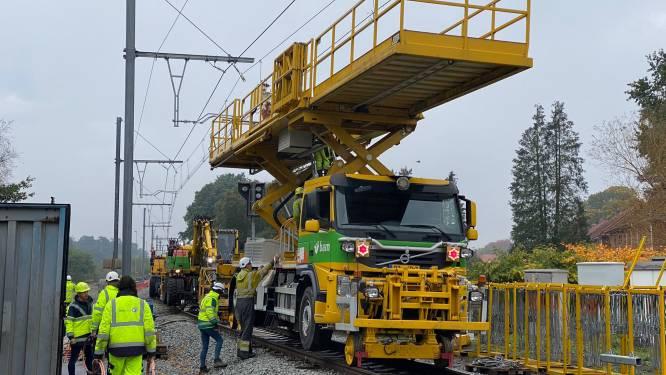 Elektrificatiewerken tussen Hasselt en Mol blijven op schema