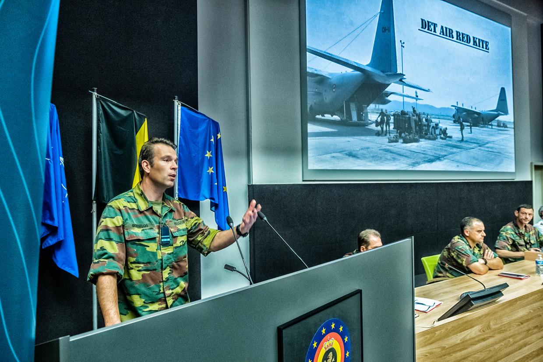 Op de persconferentie van Defensie werd meer uitleg gegeven over de evacuatiemissie vanuit Afghanistan Red Kite. Beeld Tim Dirven