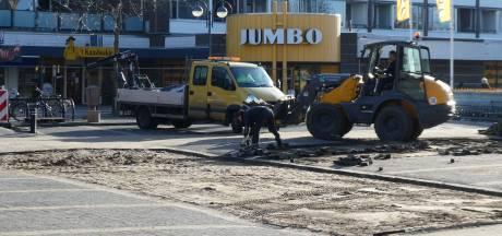 Weg bij Mercuriusplein dicht voor reconstructie van het plein