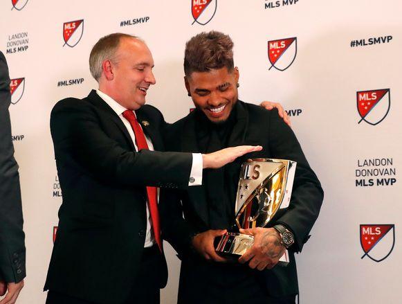 Josef Martínez mocht de trofee van MVP, de beste speler in de MLS ontvangen.