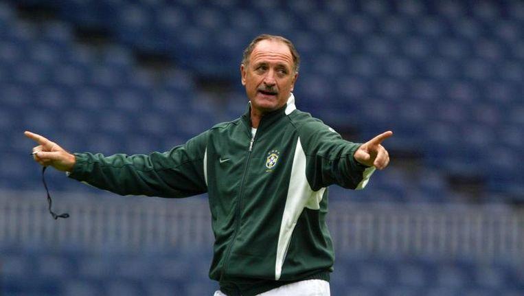Luiz Felipe Scolari tijdens zijn eerste periode als Braziliaans bondscoach, in 2002. Beeld null