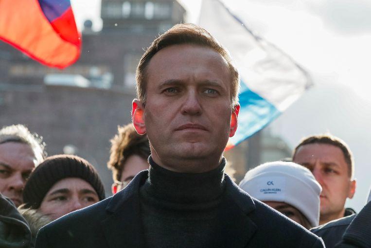 De Russische oppositieleider Alexej Navalny zag zijn rekening geblokkeerd, net als zijn gezin. Beeld Reuters