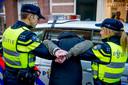 Een arrestatie in Hoorn.