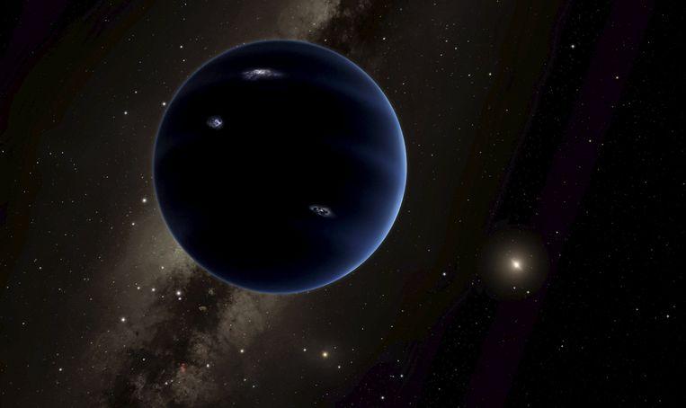Artistieke voorstelling van het mogelijke bestaan van Planeet Negen.