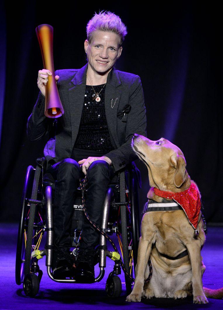 Marieke Vervoort won voor de tweede keer bij de Paralympiërs. Beeld BELGA