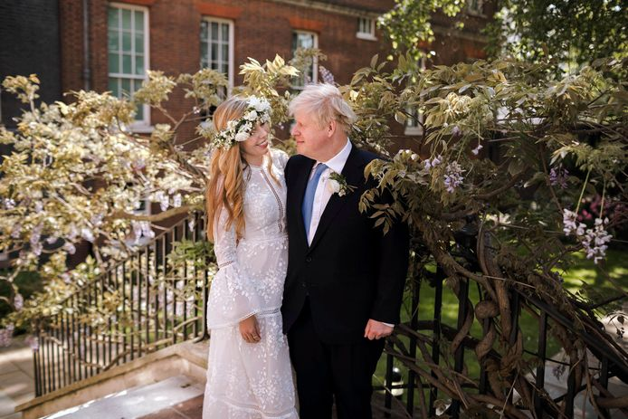 Het huwelijk van de Britse premier Boris Johnson met Carrie Johnson.