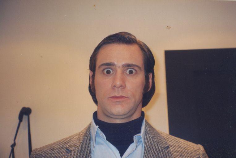 Jim Carrey als comedian Andy Kaufman.  Beeld rv Francois Duhamel/Netflix