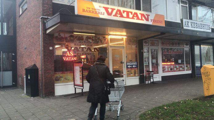De overval vond plaats bij bakkerij Vatan.
