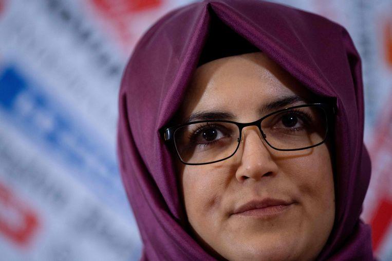 De verloofde van Kamal Khashoggi, Hatice Cengiz.  Beeld AFP