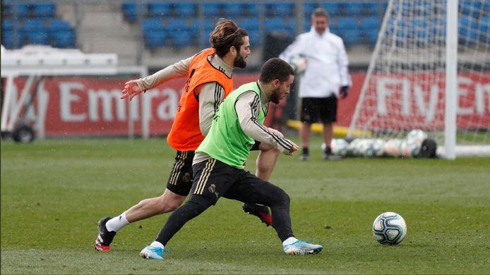 Eden Hazard a repris l'entraînement collectif