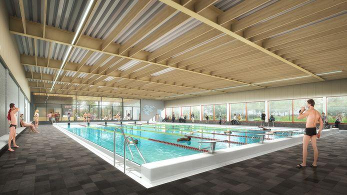 Het interieur van het nieuwe zwembad Brandenburg.