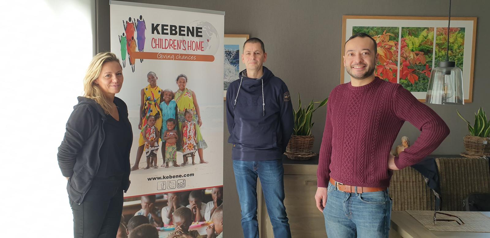 Het bestuur van Kebene Mechelen, met Sylvie Van Buyten, Alain Pardon en Jonasz Nunes.