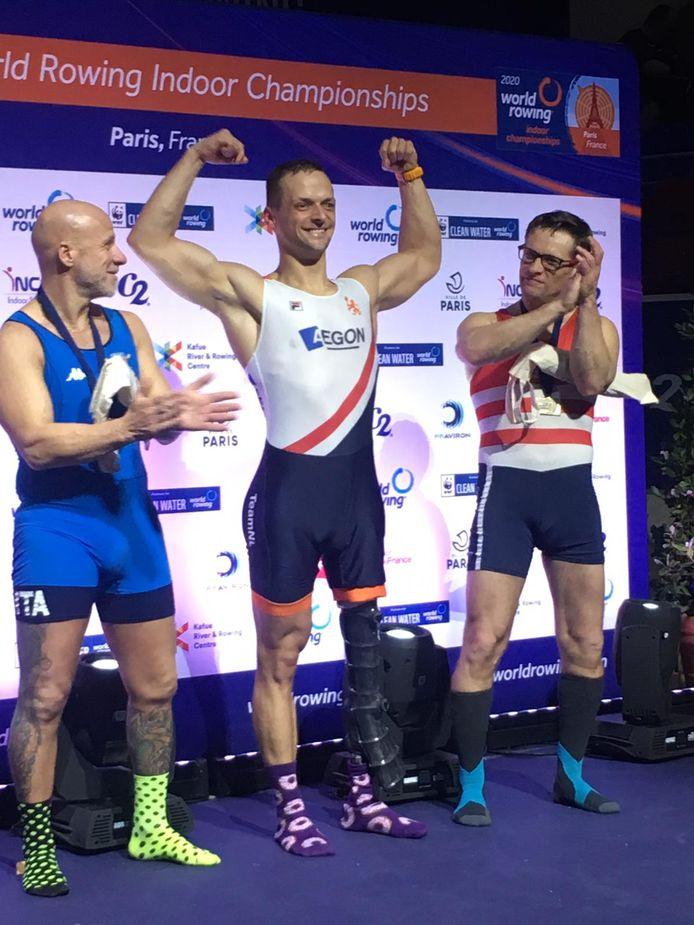 Corné de Koning, hier solo als winnaar van het WK indoor, is de enige Zeeuw die al zeker is van de Paralympics.