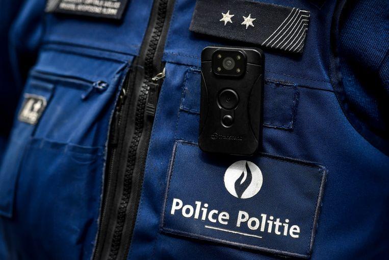 Bodycam bij de Brusselse politie. Beeld BELGA