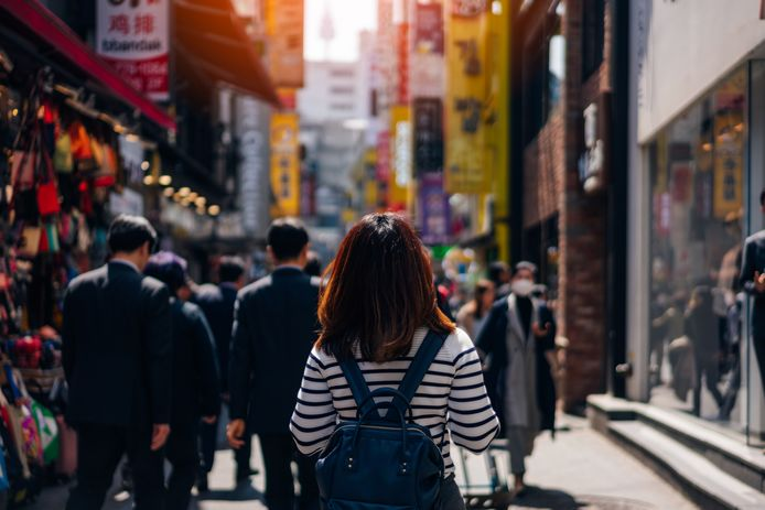 Archiefbeeld: winkelstraat in Seoel