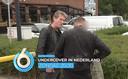 Een screenshot van de trailer: Alberto Stegeman confronteert een wanbetaler.