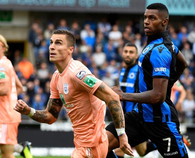 De Bosniër Ognjen Vranjes kwam voor veel geld naar Anderlecht, maar viel tot dusver vooral op naast het veld. Beeld Photo News