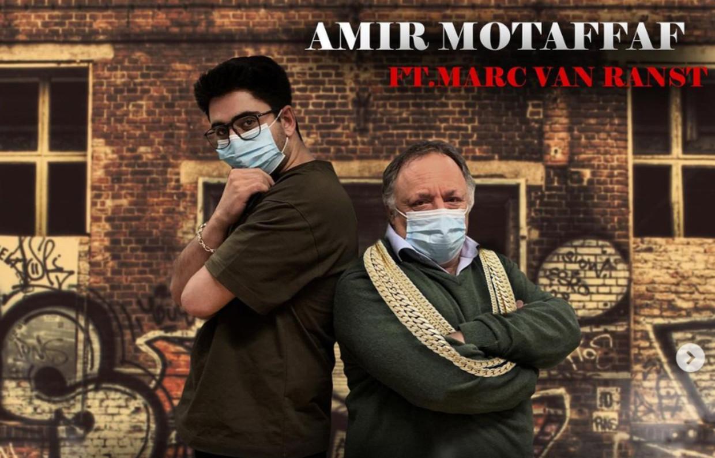 Amir Motaffaf en Marc Van Ranst Beeld Amir Motaffaf / Instagram