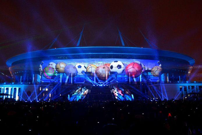 Het nieuwe stadion in Sint-Petersburg is één van de locaties voor de Confederations Cup