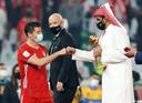 Het WK voor clubs vond vorige maand ook plaats in Qatar. Bayern München met superspits Robert Lewandowski (links) won.