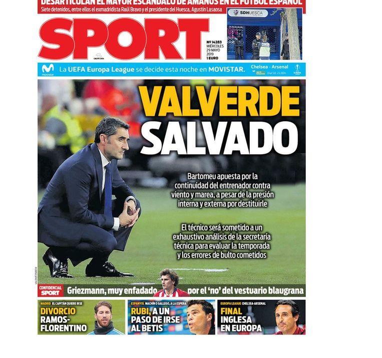 Ernesto Valverde zou volgens 'Sport' nu toch aanblijven.