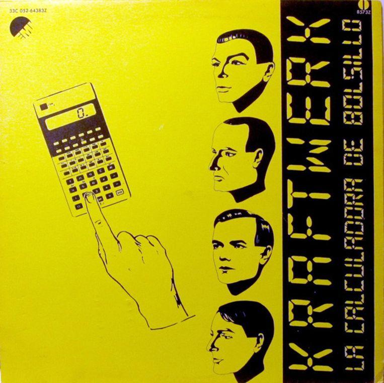 Hoes van de single 'La Calculadora De Bolsillo' van Kraftwerk. Beeld RV