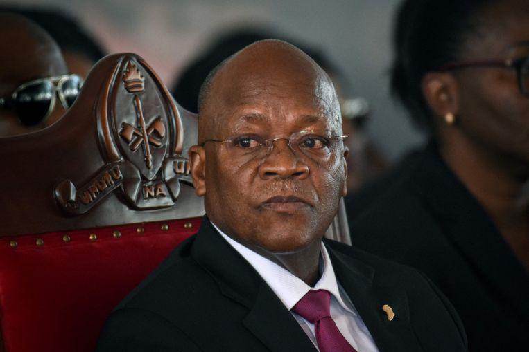 De Tanzaniaanse president John Magufuli in betere tijden.  Beeld AFP