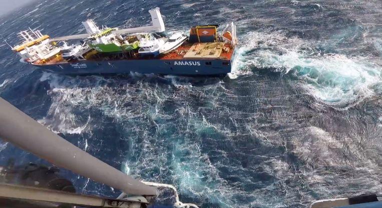 Screenshot uit filmpje van HRS Sør-Norge, de Noorse reddingsdienst.  Beeld