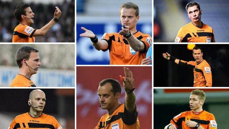 Van linksboven naar rechtsonder: Lambrechts, Verboomen, Delferière, Vertenten, Boucaut, Lardot, Van Driessche en Visser. Beeld belga/photonews